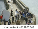 Small photo of Charlestown, Cornwall, UK. 22nd September 2015. The BBC Poldark series, staring Aidan Turner, continues filming in Charlestown, with support crew in attendance.