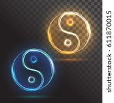 yin yang symbols | Shutterstock .eps vector #611870015