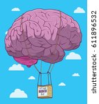 imagination fly | Shutterstock .eps vector #611896532