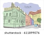 vector  hand drawn. classical... | Shutterstock .eps vector #611899076