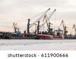 Bulk Carrier In Frozen Port...