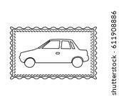 monochrome contour frame of... | Shutterstock .eps vector #611908886