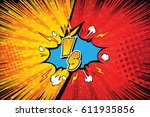 fight backgrounds comics style... | Shutterstock .eps vector #611935856