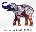 beautiful silhouette of indian...   Shutterstock .eps vector #611950016