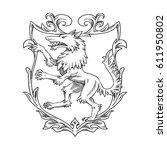 vector image of a heraldic... | Shutterstock .eps vector #611950802