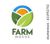 farm house concept logo full...   Shutterstock .eps vector #611952752