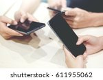 play a game in phone or close... | Shutterstock . vector #611955062