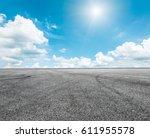 asphalt road and sky cloud... | Shutterstock . vector #611955578