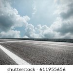 asphalt road and sky cloud... | Shutterstock . vector #611955656