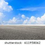 asphalt road and sky cloud... | Shutterstock . vector #611958062
