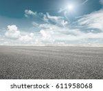 asphalt road and sky cloud... | Shutterstock . vector #611958068