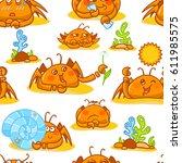vector seamless pattern ...   Shutterstock .eps vector #611985575