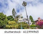 the coit tower photographed... | Shutterstock . vector #611994965
