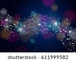 abstract technology futuristic... | Shutterstock .eps vector #611999582