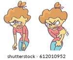 cartoon of sad and mad girl...