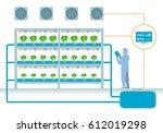 plant factory system diagram ...   Shutterstock .eps vector #612019298