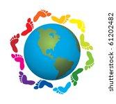 vector illustration of foot... | Shutterstock .eps vector #61202482