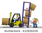 warehouse accident. worker...   Shutterstock . vector #612026318