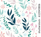 flower leaf pattern | Shutterstock .eps vector #612045806