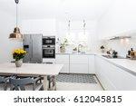 Stock photo modern kitchen interior 612045815