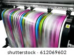large printer format inkjet... | Shutterstock . vector #612069602