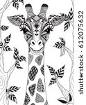 line art design of abstract... | Shutterstock .eps vector #612075632