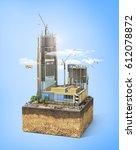construction concept.... | Shutterstock . vector #612078872