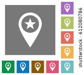 poi gps map location flat icons ... | Shutterstock .eps vector #612080786