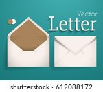 vector letter on the blue... | Shutterstock .eps vector #612088172