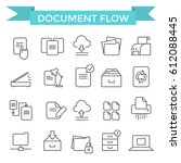 document flow and archive icons ... | Shutterstock .eps vector #612088445
