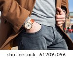 vintage smart casual outfit... | Shutterstock . vector #612095096