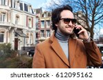 handsome smart casual modern... | Shutterstock . vector #612095162