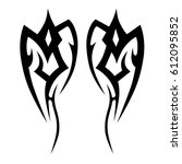 tattoo sketch tribal vector... | Shutterstock .eps vector #612095852