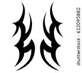 tattoo sketch tribal vector... | Shutterstock .eps vector #612095882