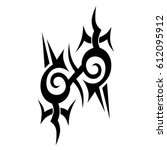 tribal tattoo art designs.... | Shutterstock .eps vector #612095912