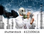 an environmental engineer in a... | Shutterstock . vector #612100616