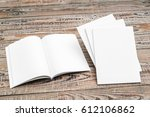 blank catalog  magazines book...   Shutterstock . vector #612106862