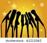 black silhouettes of... | Shutterstock .eps vector #61211062