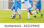 football soccer training match... | Shutterstock . vector #612119642
