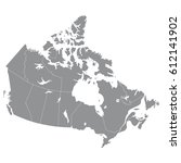 high quality map of canada with ... | Shutterstock .eps vector #612141902