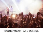 crowd at concert   summer music ... | Shutterstock . vector #612151856