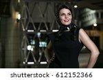 portrait of a beautiful... | Shutterstock . vector #612152366
