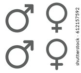 male and female gender sign | Shutterstock .eps vector #612157592