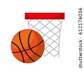 basket sport isolated icon... | Shutterstock .eps vector #612176036