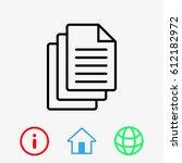 documents icon stock vector... | Shutterstock .eps vector #612182972