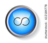 infinity icon vector.