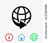 web icon stock vector... | Shutterstock .eps vector #612186488