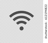 wireless vector icon eps 10. wi ...   Shutterstock .eps vector #612194822
