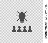 teamwork vector icon eps 10.... | Shutterstock .eps vector #612194846