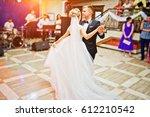 first wedding dance of gorgeous ... | Shutterstock . vector #612210542